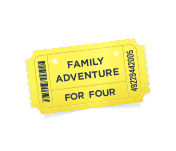 Family adventure day for four